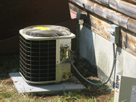 An air conditioning condenser